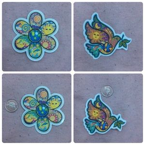 vintage style sticker bundle